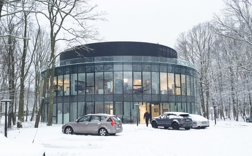 Budynek e.volution zima